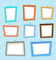 cartoon photo picture creative wall frames vector image vector image