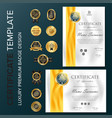certificate template with luxury and modern vector image vector image