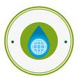 circular frame with symbol saving water vector image vector image