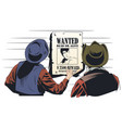 cowboys is considering a criminal wanted ad vector image vector image