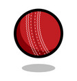 cricket sport ball logo line 3d icon vector image