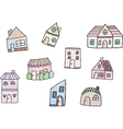 Cute doodle house vector image