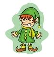 Cute elf Christmas character stock vector image
