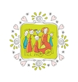 Cute Family Frame vector image