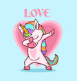 cute unicorn colorful vector image