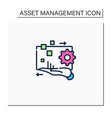 digital asset management color icon