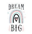 dream big quote background with cute vector image vector image