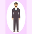 dresscode office worker man in stylish coat vector image vector image