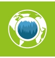 environment care globe landscape icon graphic vector image