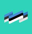estonia flag ribbon isolated estonian tape banner vector image vector image