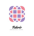 fabric original logo design element for company vector image vector image