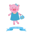 fashionable pig mom vector image vector image
