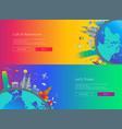 Flat design web page travel banners set