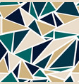 geometric triangle pattern in teal and gold vector image vector image