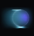 glowing particles background vector image vector image