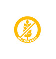 gluten free badge sign label icon vector image