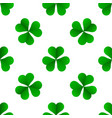 green irish trefoil clover for st patricks day vector image