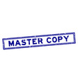 grunge blue master copy word rubber seal stamp on vector image vector image