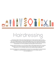 Hairdressing Icons Set vector image vector image
