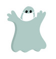 halloween cartoon character in covid-19 pandemic vector image vector image