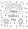 happy children day hand draw collection vector image vector image