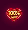 heart sale 100 off ballon number on white vector image vector image