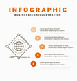 iot internet things of global infographics vector image