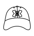line casual cap male style accessory vector image vector image