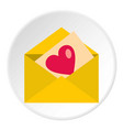 love letter icon circle vector image vector image