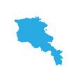 map of armenia high detailed map - armenia vector image vector image