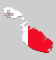 map with national flag vector image vector image