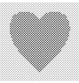 monochrome heart shaped love concept background vector image vector image