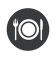 Monochrome round dinner icon vector image vector image