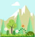 mountain nature beauty in spring or summer time vector image