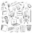 office equipment isometric set icon vector image