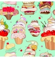 pattern of fantastic cakes in vector image vector image