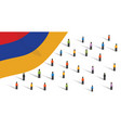 people in armenia together in crowd doing vector image