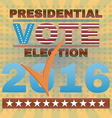 Presidential Election Vote 2016 Banner vector image vector image