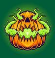 pumpkins vape halloween vector image vector image