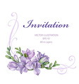 purple freesia flowers vector image vector image