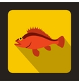 Rose fish Sebastes norvegicus icon flat style vector image vector image
