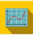 Screen arrow graph board flat icon vector image