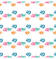 seamless pattern with brush wave swirl vector image vector image