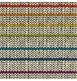 Seamless pattern with rainbow knitted stripes vector image vector image