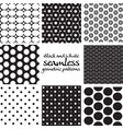 set black and white seamless geometric vector image vector image