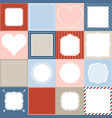 set of 16 frame vector image vector image
