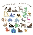 Set of Cute Zoo Animals A lot of different vector image