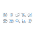 set science icons such as weather thermometer vector image vector image