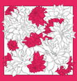 silk scarf with dahlia flowers blooming flowers vector image vector image