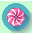Sweet lollipop candie icon Flat design style vector image vector image